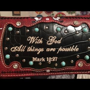 Handbags - Bible Verse Trifold Wallet Purse